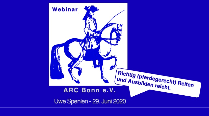 Web-Seminar exklusiv für Mitglieder des ARC Bonn e. V. am 29. Juni2020